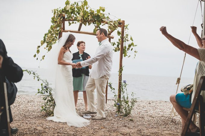 A Beautiful Private Beach Wedding - Milford, Connecticut (Real Weddings) - (milford connecticut beach wedding) - http://emmalinebride.com/real-weddings/milford-connecticut-beach-wedding | Butler Photography, LLC