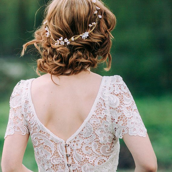 flower crown wedding hair