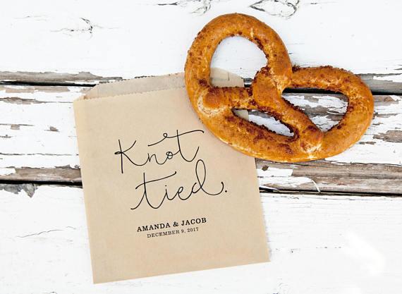 pretzel wedding favors