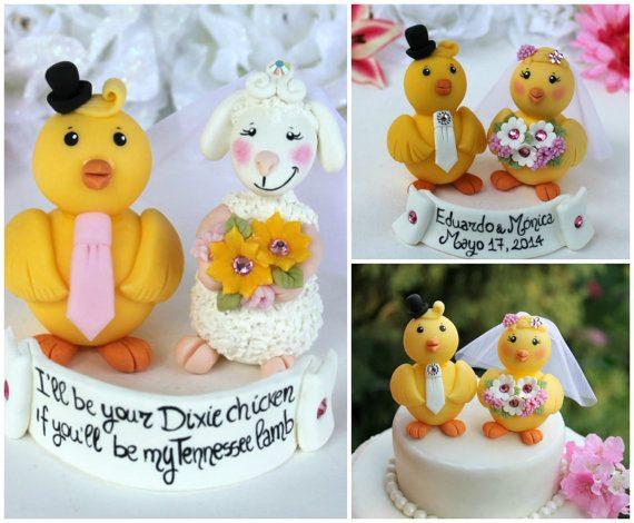 chick cake topper