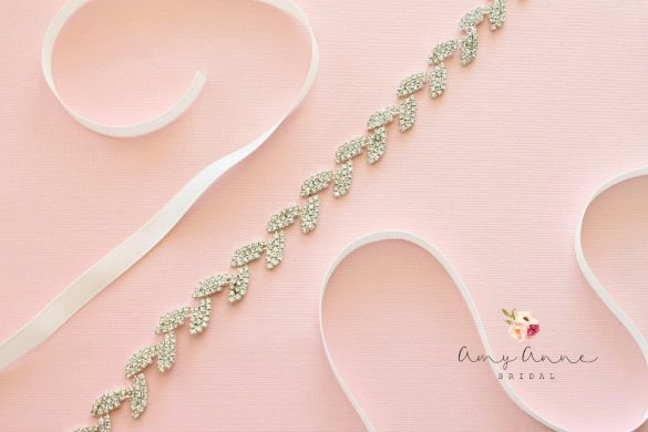 Beautiful inexpensive bridal belts from Amy Anne Bridal // via https://emmalinebride.com/bride/inexpensive-bridal-belts-sashes/