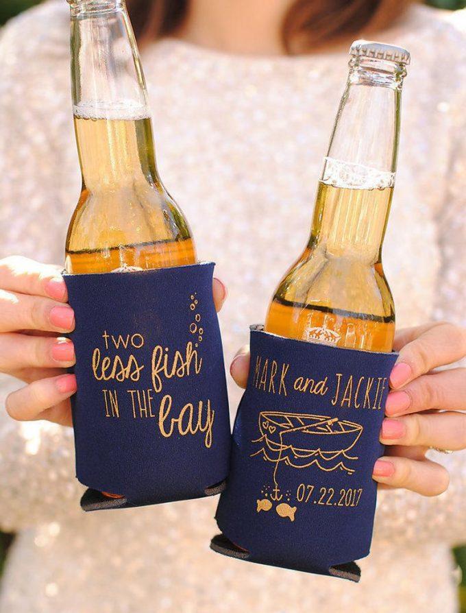 wedding koozies etsy