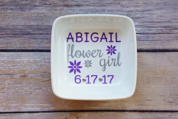 flower girl ring dishes (only $10!)