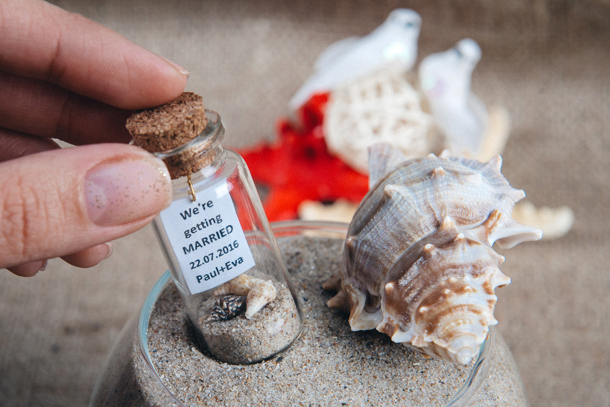 message in a bottle save the date