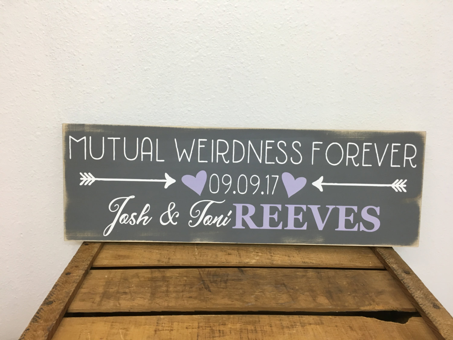 wooden family name signs