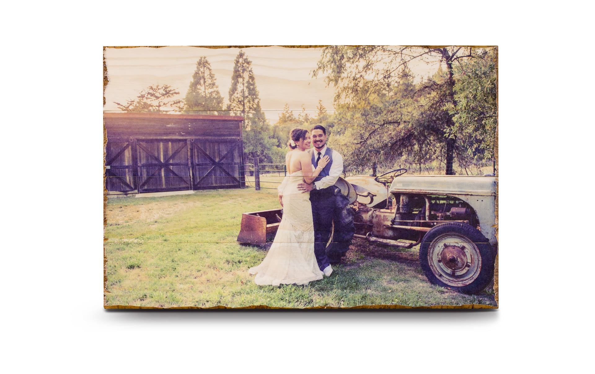 photo print on wood