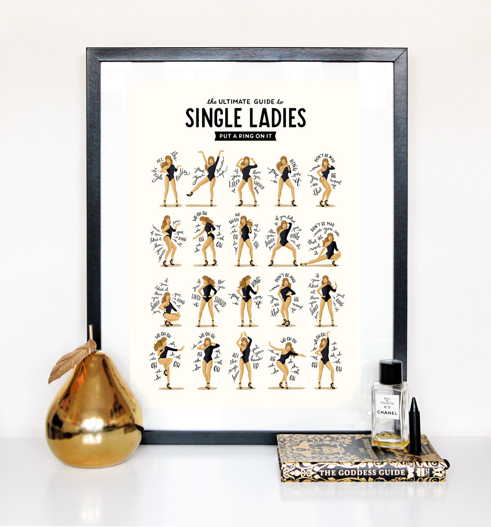 Beyonce single ladies poster complete with dance moves
