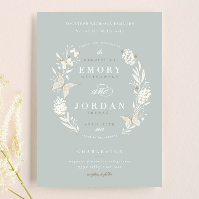 butterfly wedding invitations via http://shrsl.com/zntb