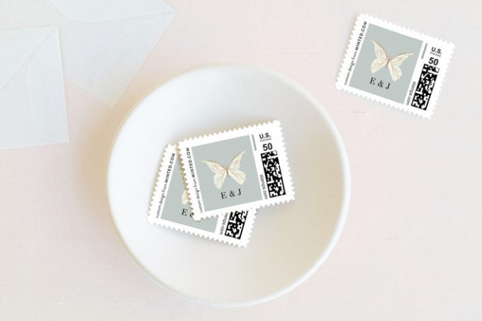 butterfly wedding ideas postage stamps via http://shrsl.com/zntr