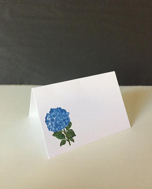 hydrangea place card
