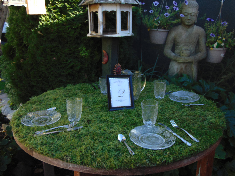 moss round tablecloths