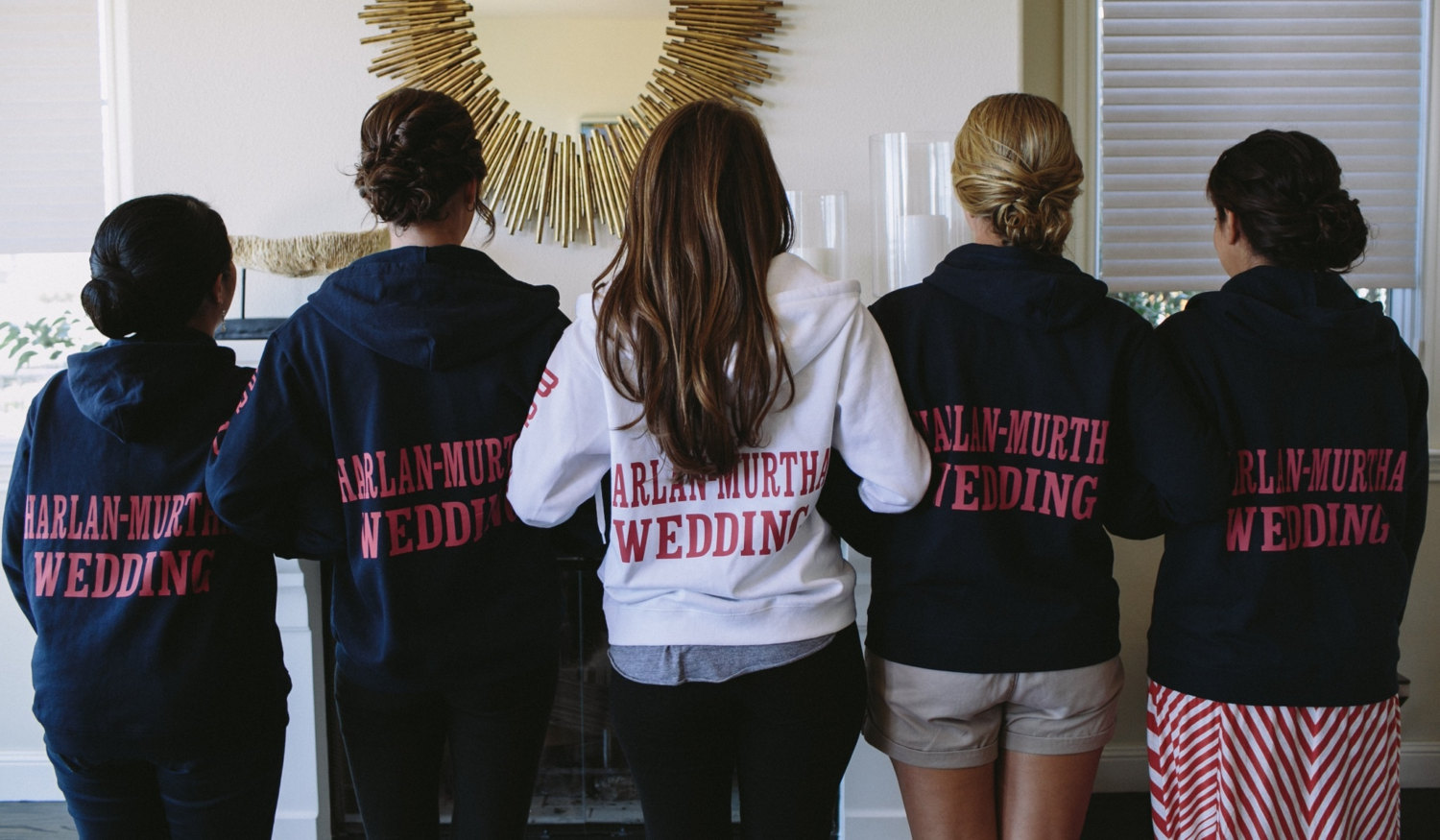 hoodies and custom sweatpants for bridesmaids