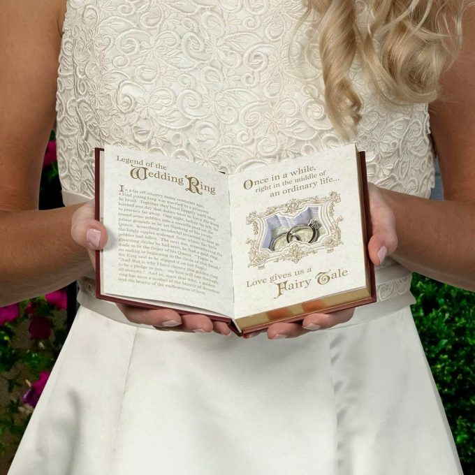 wedding ring box story book