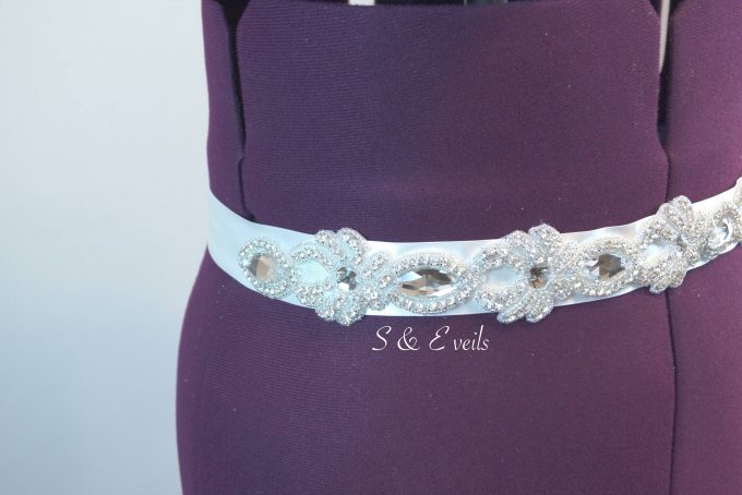 wedding dress belt