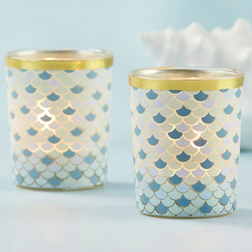 cheap wedding favors beach inspired candles