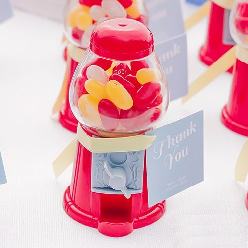 bubble gum machine wedding favors