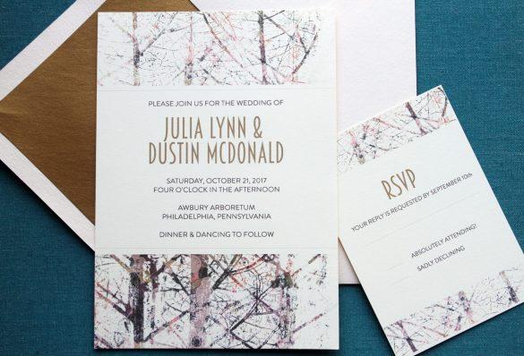 tree branch wedding invitations