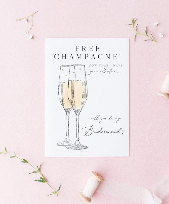 funny bridesmaid cards