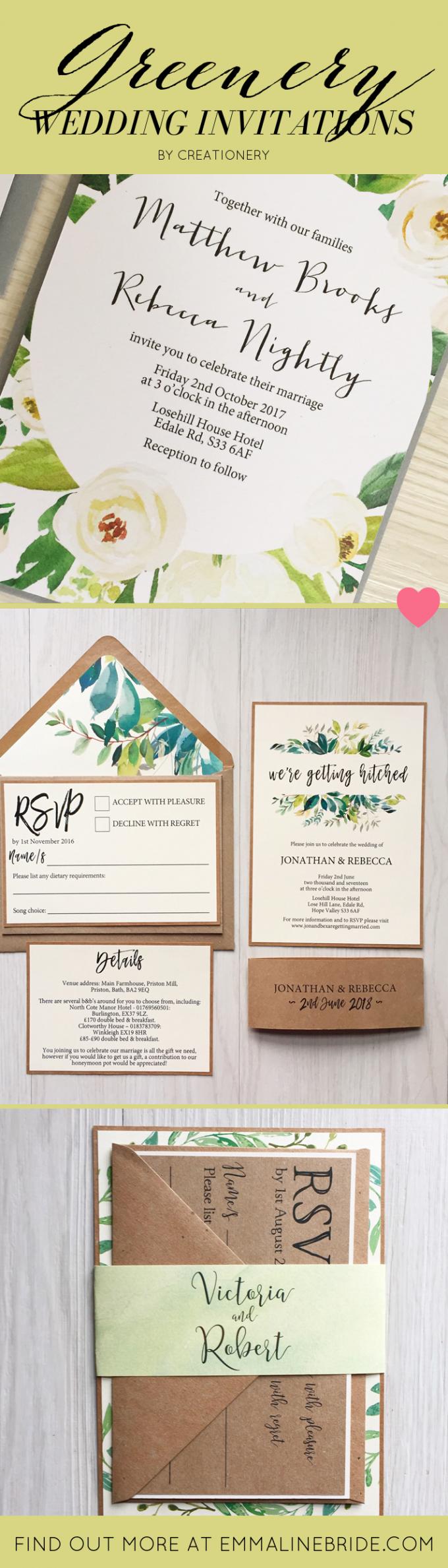 Greenery Wedding Invitations