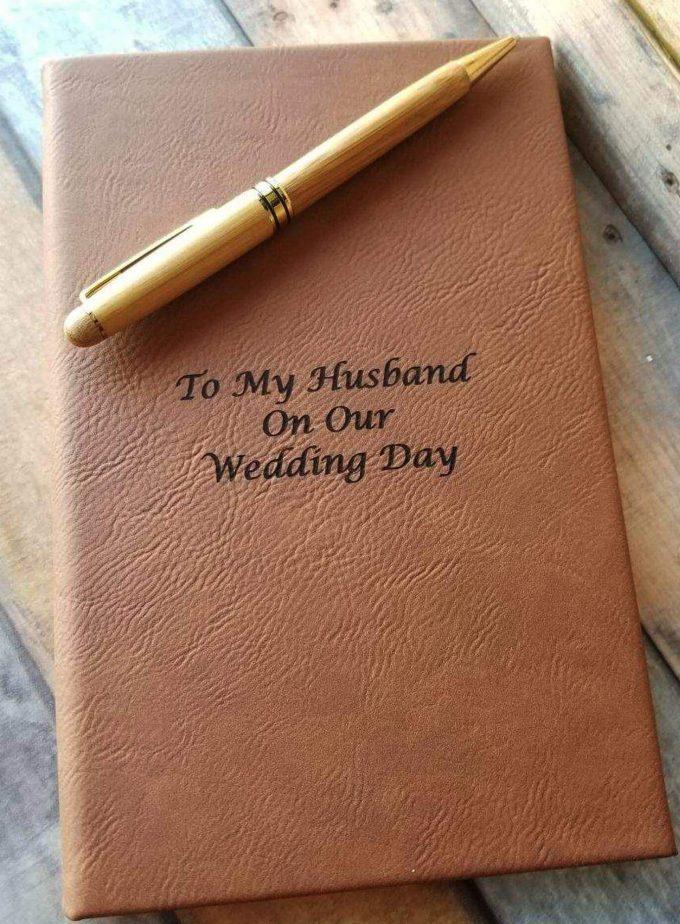 journal gift for groom