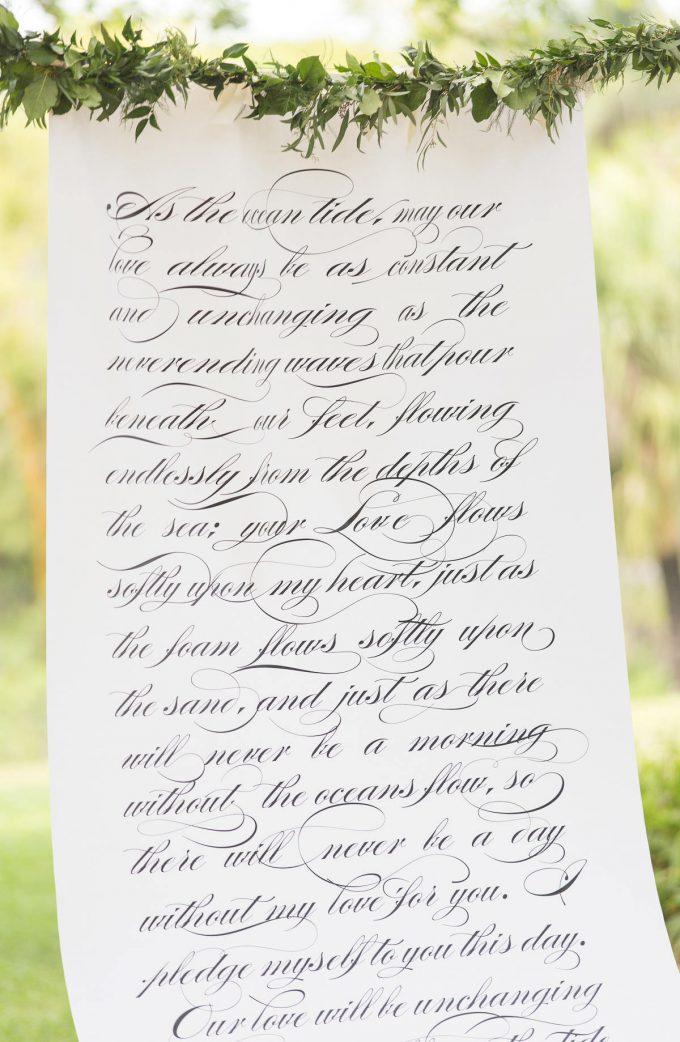 wedding scroll backdrop