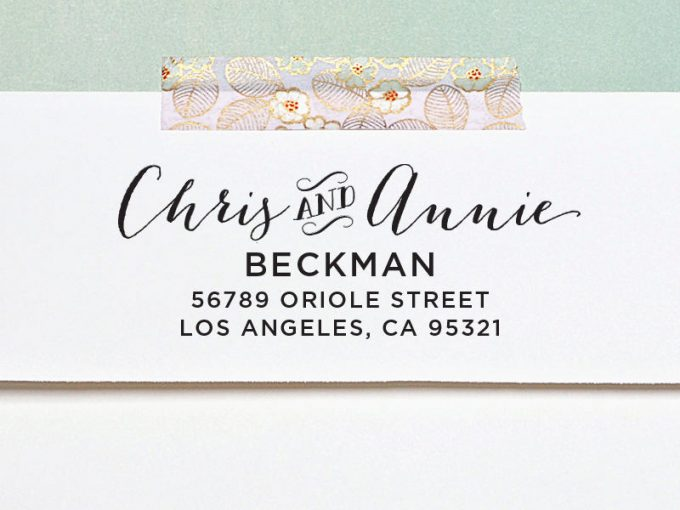 diy save the date return address stamp