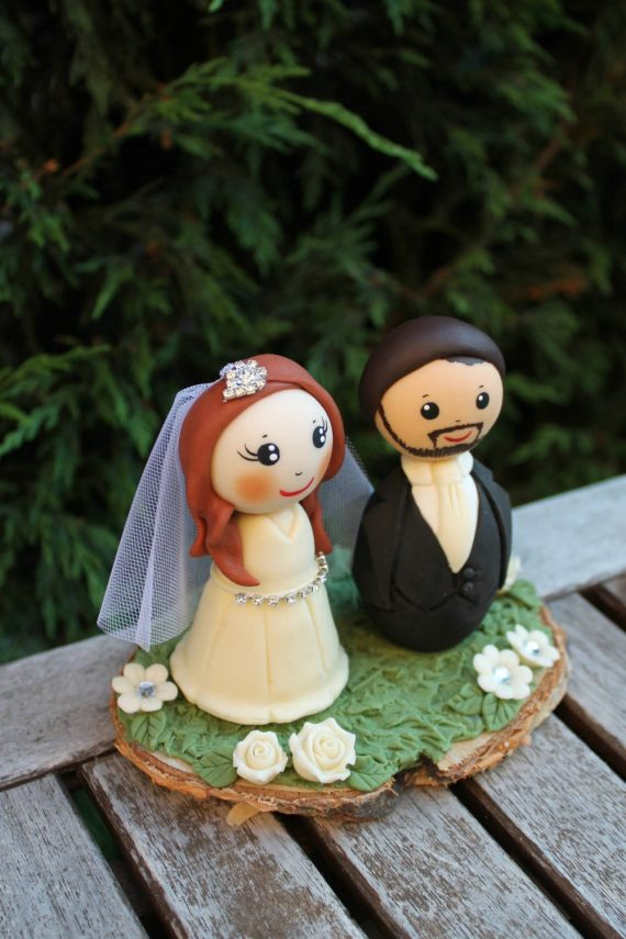 custom figurine wedding cake topper
