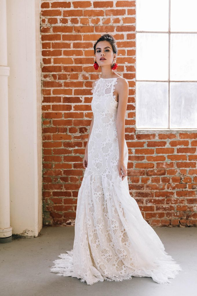 mermaid fishtail wedding dress