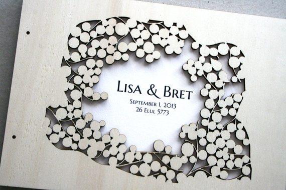 laser cut guest book