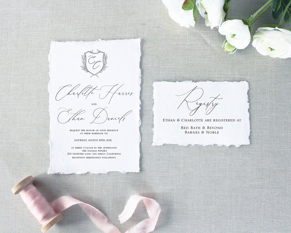 table place cards and matching invitations