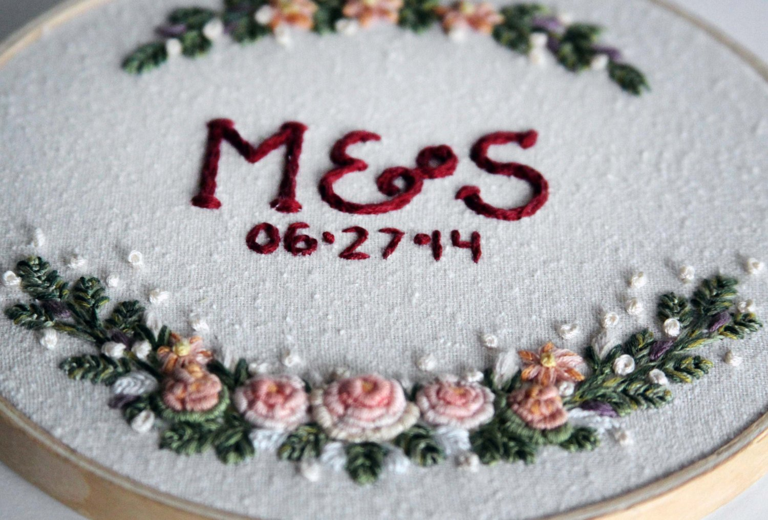 embroidery hoop table numbers via https://etsy.me/2xuxqky