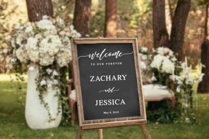 wedding decal sign