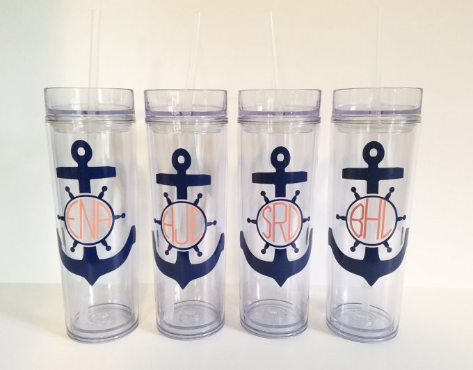 personalized bridesmaid tumblers via https://etsy.me/2LfPIIf