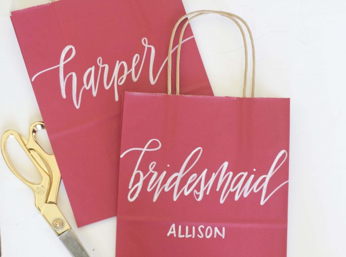 bridesmaid gift bags via https://etsy.me/2Is7UML