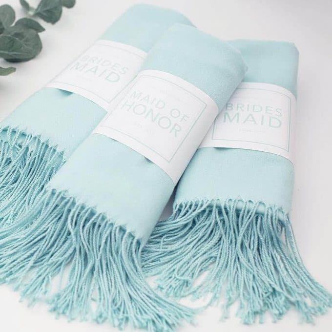pashminas for bridesmaids