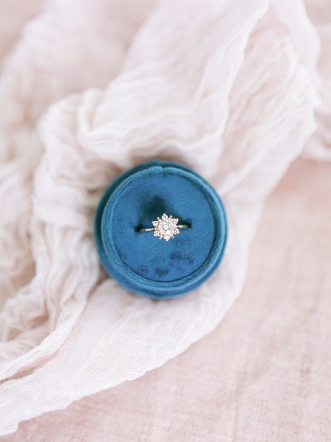blue velvet ring box
