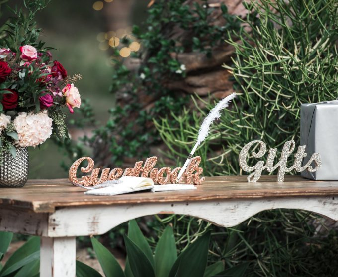 gifts sign for wedding