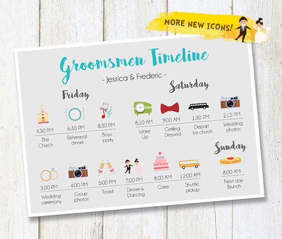 groomsmen wedding timeline