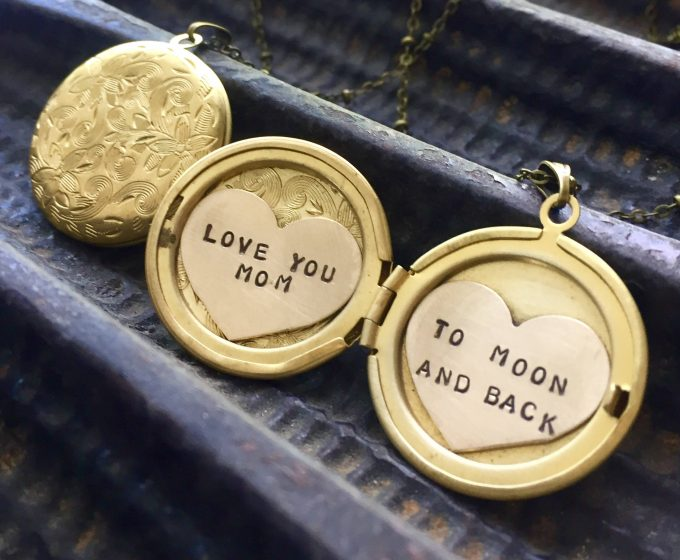 maid of honor locket necklace