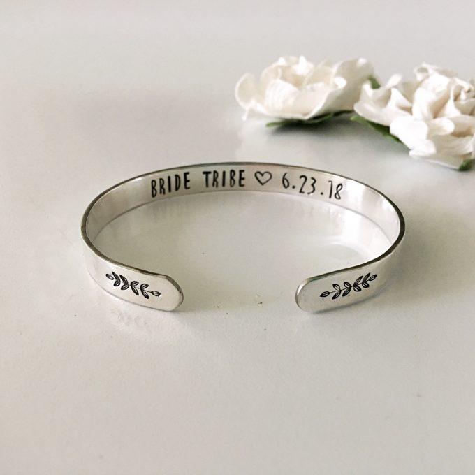 silver bride tribe cuff bracelet