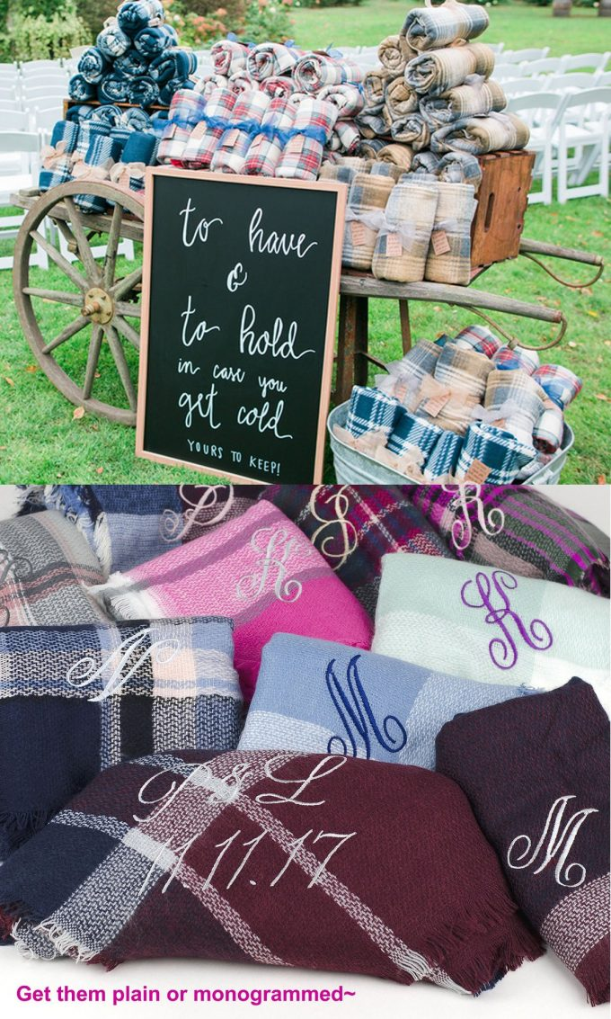 wedding blankets for guests in bulk