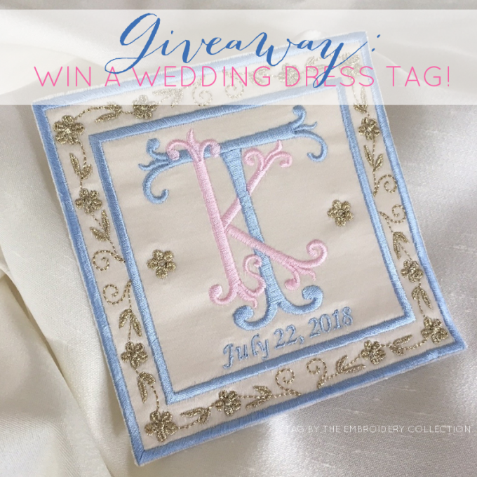 wedding dress tag giveaway