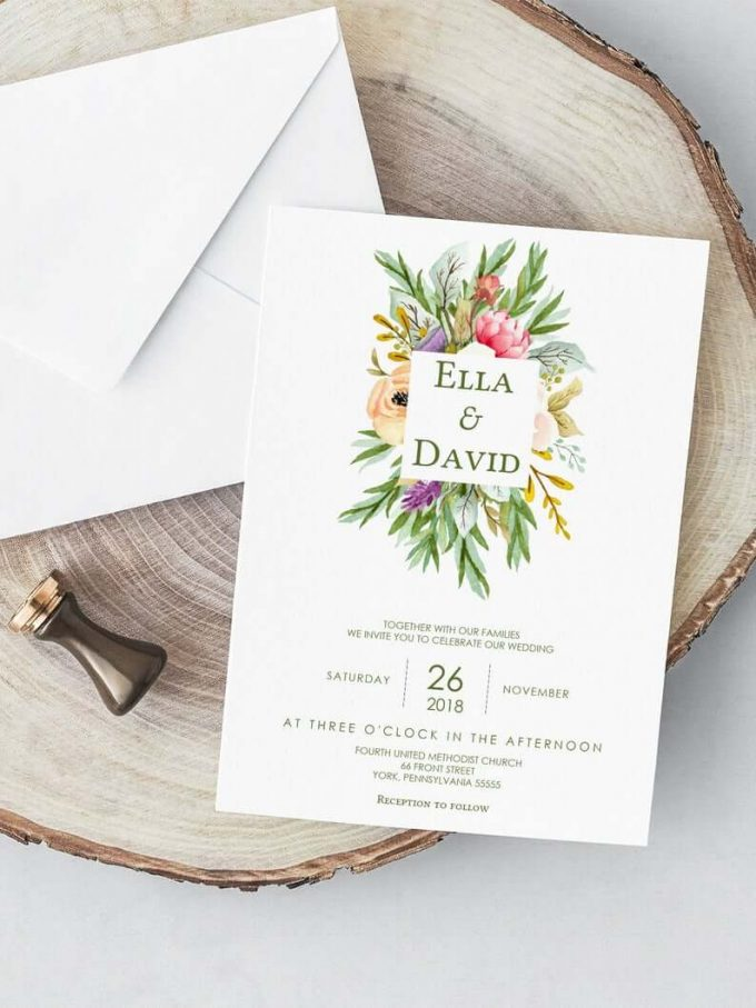 best wedding invitations on Etsy