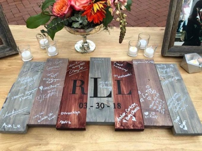 pallet wedding guest book