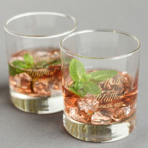 wedding favors ideas - on the rocks glasses via http://shrsl.com/153w6