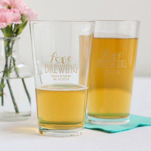 beer glass wedding favors ideas via https://shrsl.com/153w4