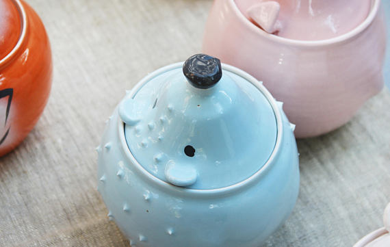 cute storage jars of animals