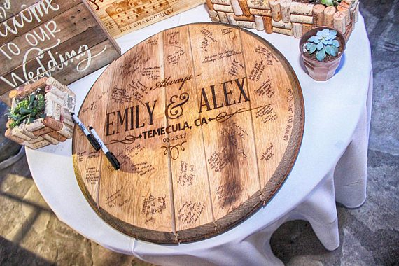 bourbon barrel guest book