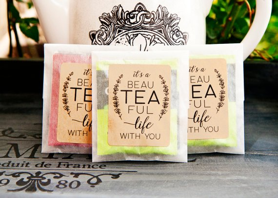 wedding favors ideas - tea favor bags