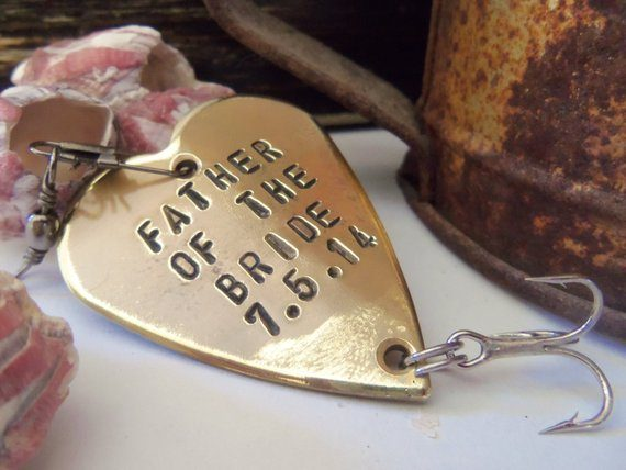 personalized fishing lure - father of the bride gift